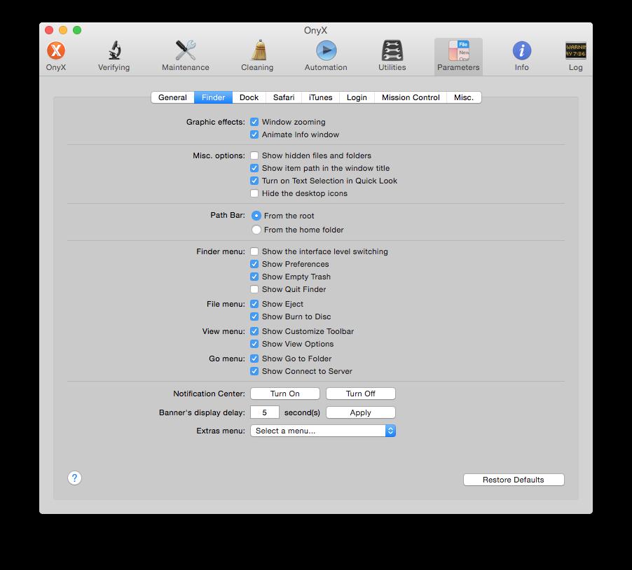 best mac cleaner tool onyx