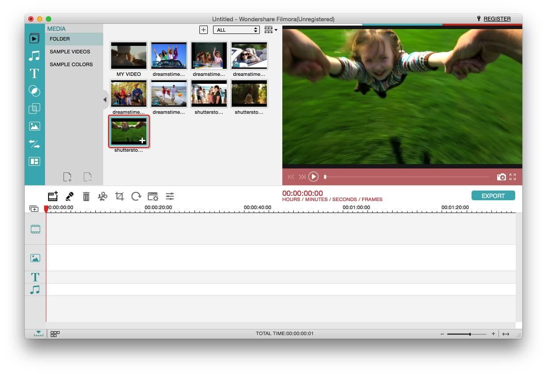 Filmora for Mac screenshot