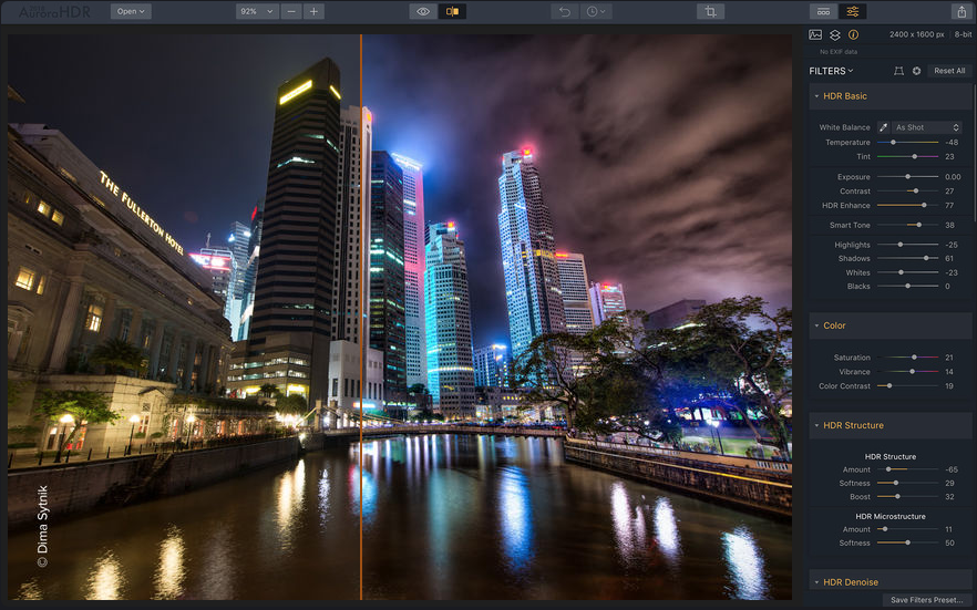Aurora HDR photo editing software for Mac