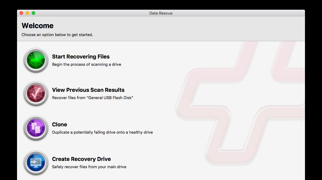 Data Rescue screenshot