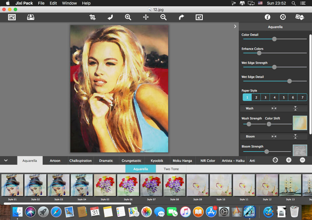 Best Mac photo editor - JixiPix Impresso Pro