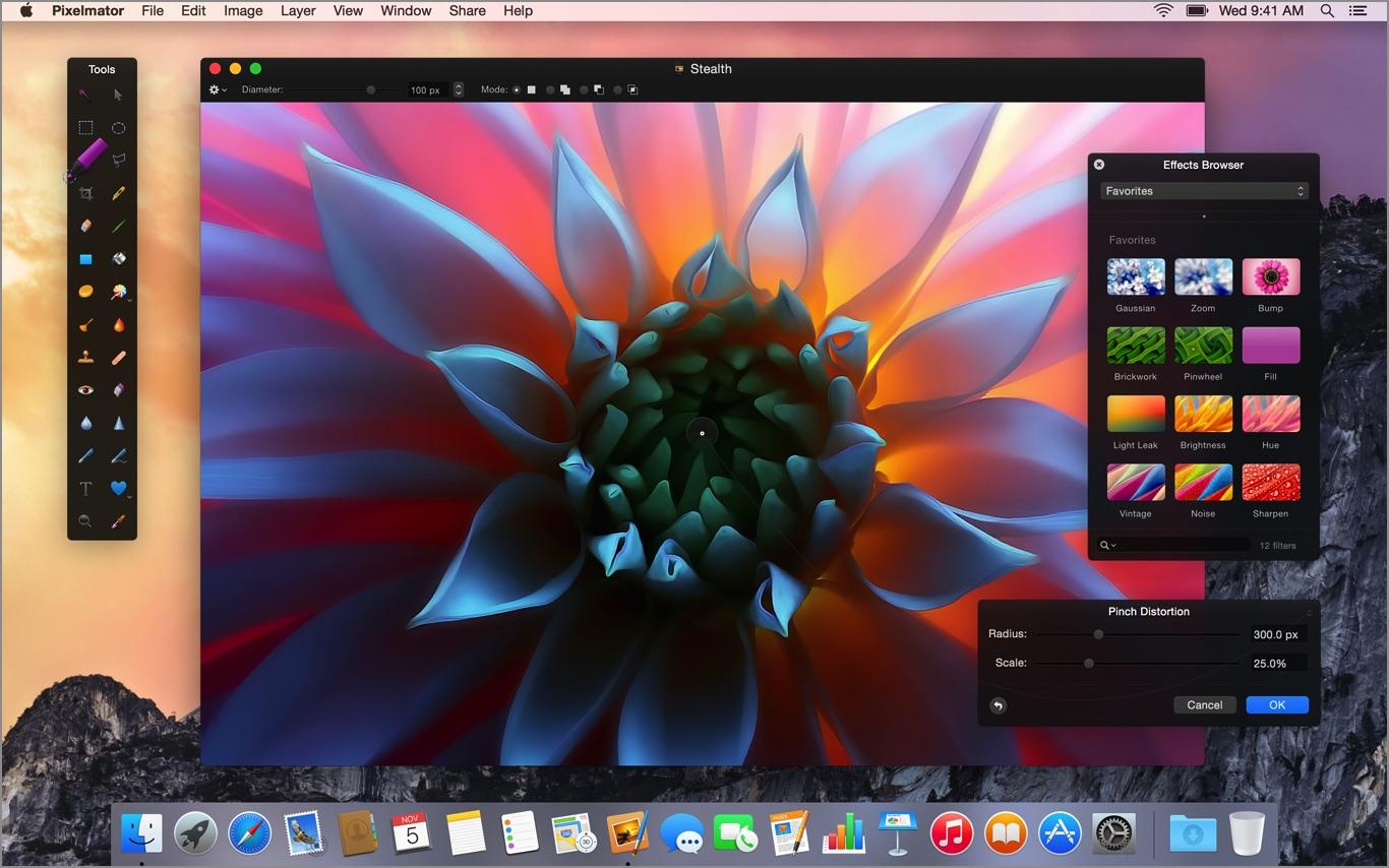 Best Mac photo editor - Pixelmator