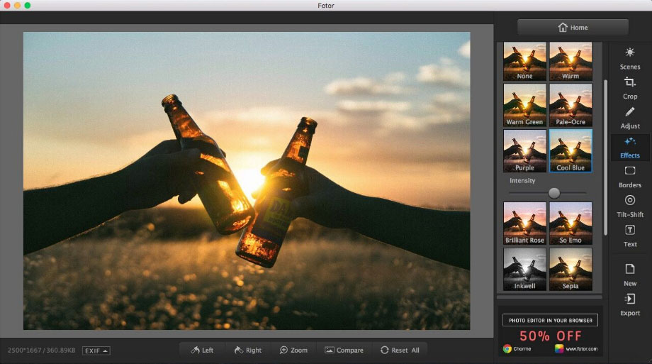 Best Mac photo editor - Fotor Photo Editor