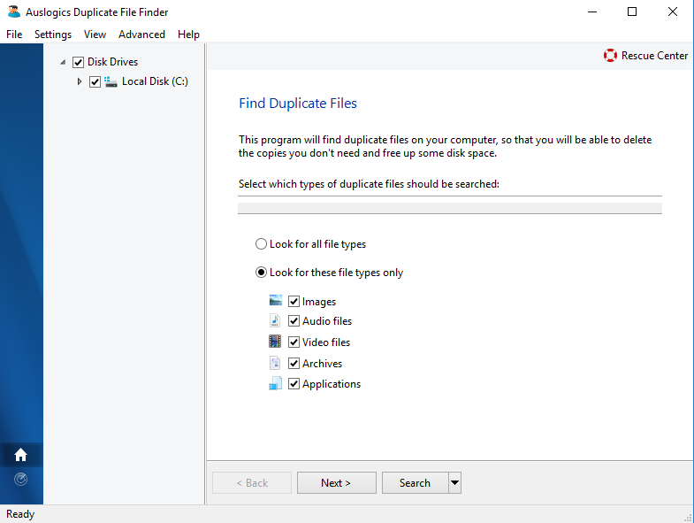 auslogic duplicate photo finder for Windows scr