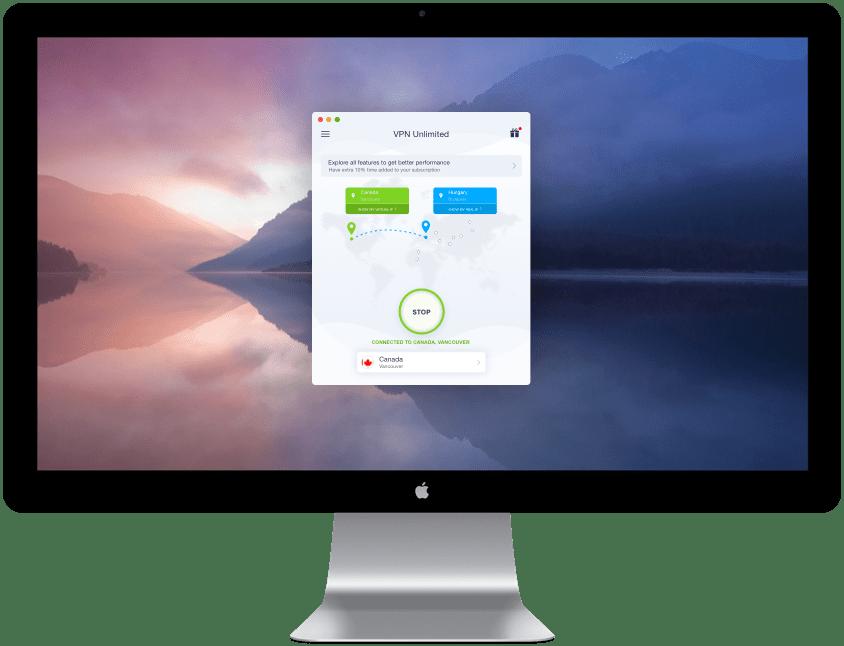 top 3 best vpn app for mac - VPN Unlimited scr
