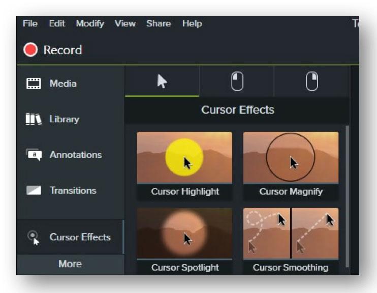 camtasia reivew- add cursor effect