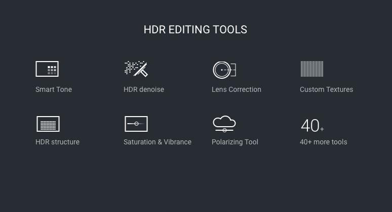 Aurora HDR editing tools