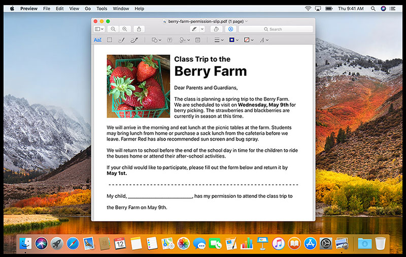 use preview to markup pdf