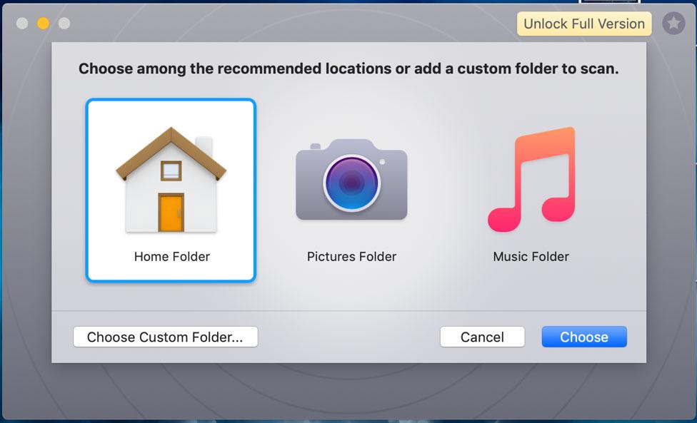 Gemin 2 Duplicate Finder choose folders to scan