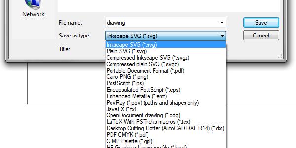 Inkscape save as PDF