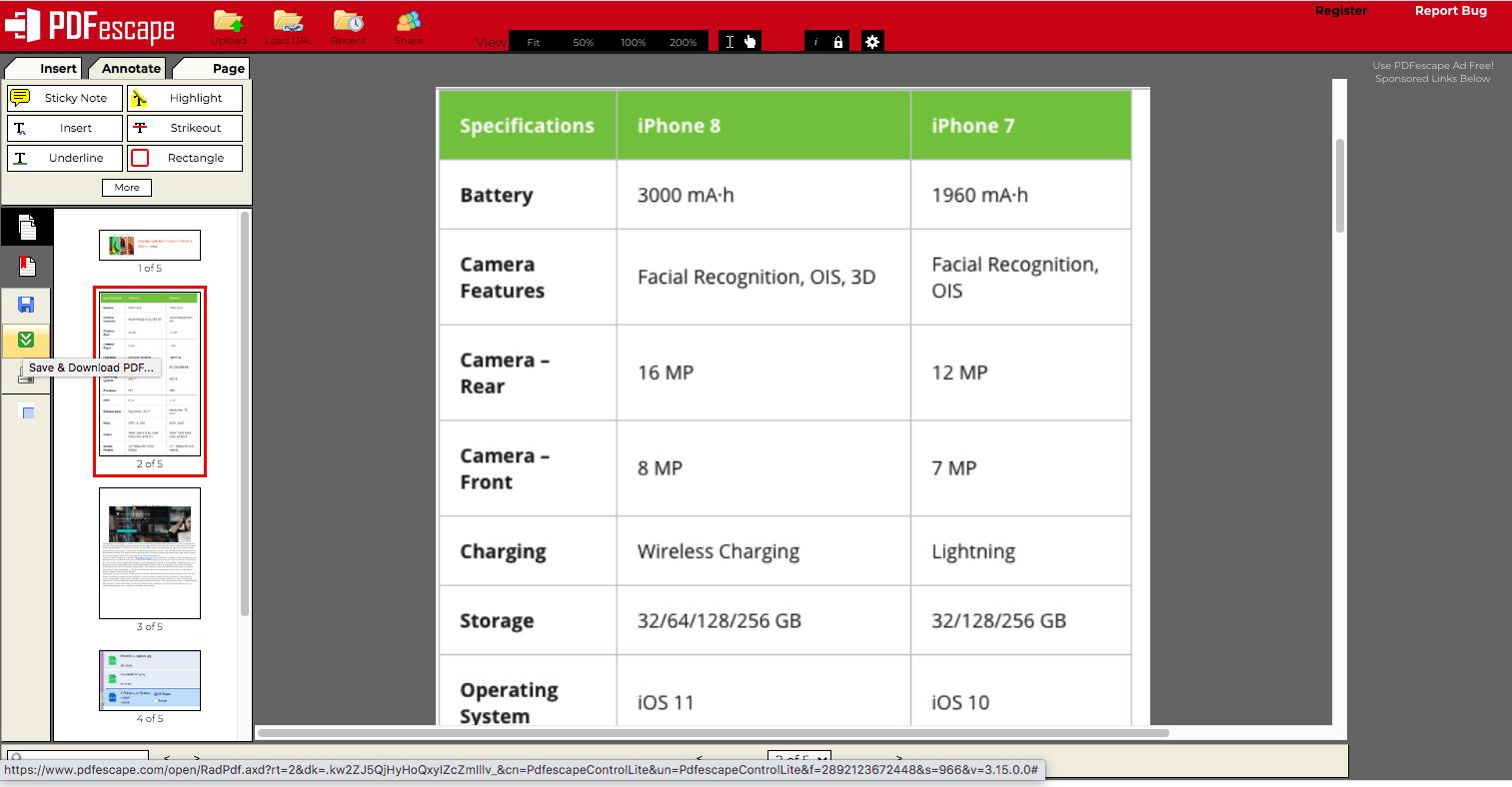 PDFexcape edit pdf file